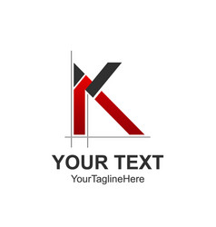 Initial letter k logo design template element vector