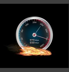 Internet speed test meter vector