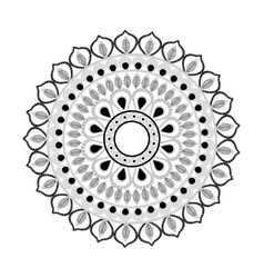 intricate mandala icon vector image