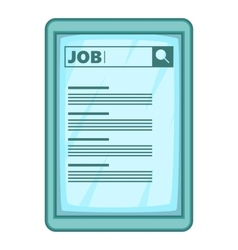 Job searching icon cartoon style vector