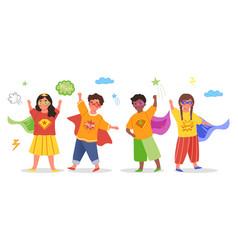 kids superheroes concept vector image