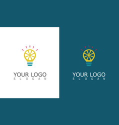 lamp idea logo vector image