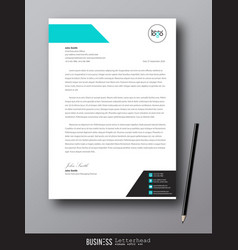 Letterhead modern design template and mockup vector