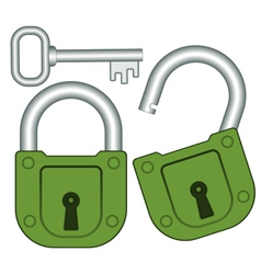 Lock and key vector image