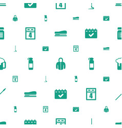 long icons pattern seamless white background vector image