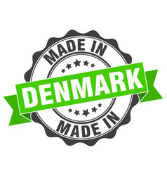 Made in denmark round seal vector