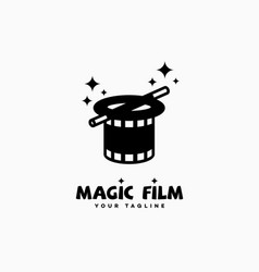 Magic film logo vector