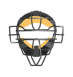 Metal wire face protection catcher mask part of vector