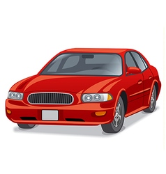 Modern car sedan vector