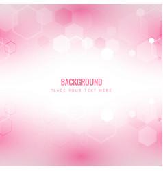 modern light honeycomb pink background imag vector image