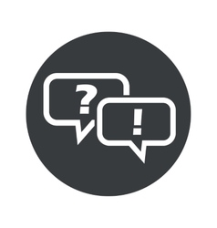 Monochrome round question answer icon vector image