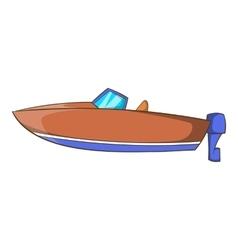Motor boat icon cartoon style vector image