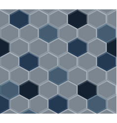 old hexagon blue tile vector image