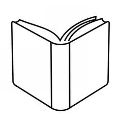 Open book linear vector