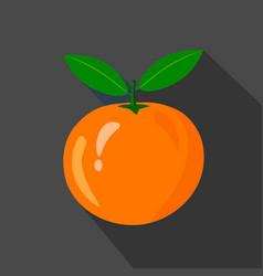 orange cartoon flat icondark background vector image