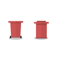 Outdoor garbage container red vector