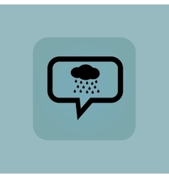 Pale blue rain message icon vector