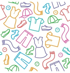 Pattern with clothes vector