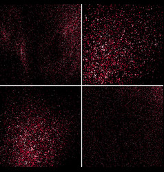 pink explosion of confetti set texture vector image