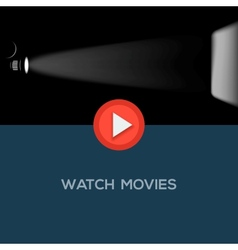 Play movie button flat design vector