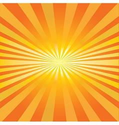 Radiating sun vector image