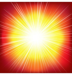 Red Burst Background vector image