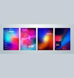 set business brochure cover design templates vector image