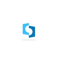 Shape polygon circle colored logo vector