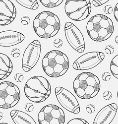 Sketch of different balls vector