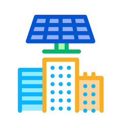 smart city solar energy icon outline vector image