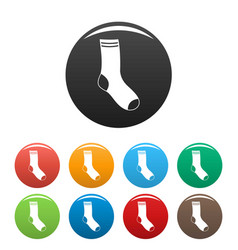 sock icons set color vector image