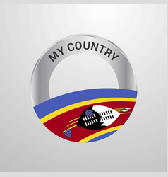 Swaziland my country flag badge vector