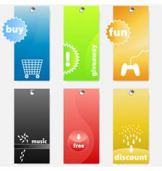 tags design vector image