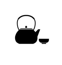 tea pot icon tea pot silhouette vector image