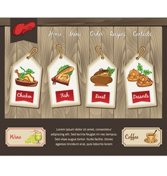 Template for food menu vector