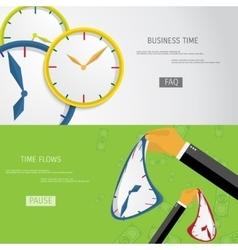 Time flows vector