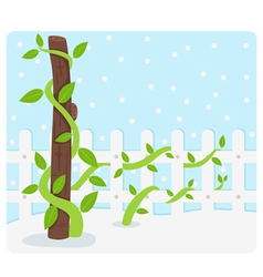 Tree background vector