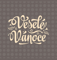 vesele vanoce xmas in the czech republic vector image