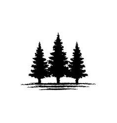 Vintage retro hipster evergreen pine cedar blue vector