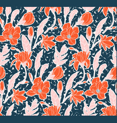 watercolor floral meadow ditsy print garden vector image
