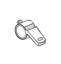 whistle hand drawn outline doodle icon vector image