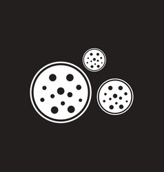 White icon on black background bonbon candy vector