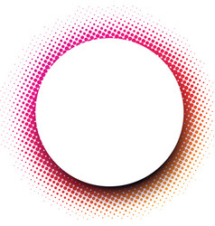 White round background with pink dotted pattern vector
