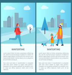 wintertime outdoor activities vector image
