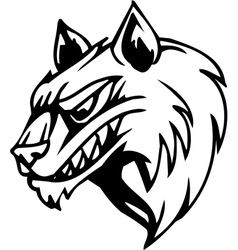 wolf - halloween set vector image