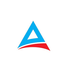 abstract triangle logo template image vector image