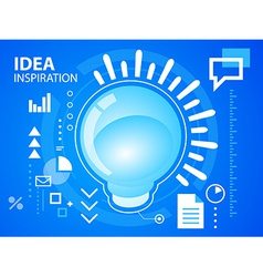 Bright light bubble on blue background for b vector