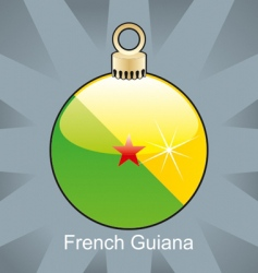 French Guiana flag on bulb vector image