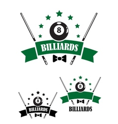 Retro style emblem of snooker vector image