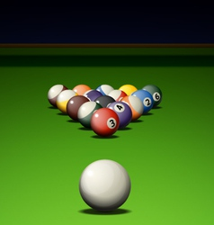 Pool game vector